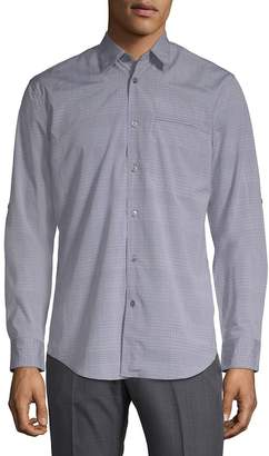 John Varvatos Men's Slim-Fit Cotton Button-Down Shirt