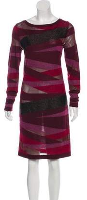 Emilio Pucci Metallic Knee-Length Dress