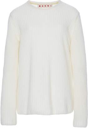 Marni Long Sleeve Cashmere Rib Knit Sweater
