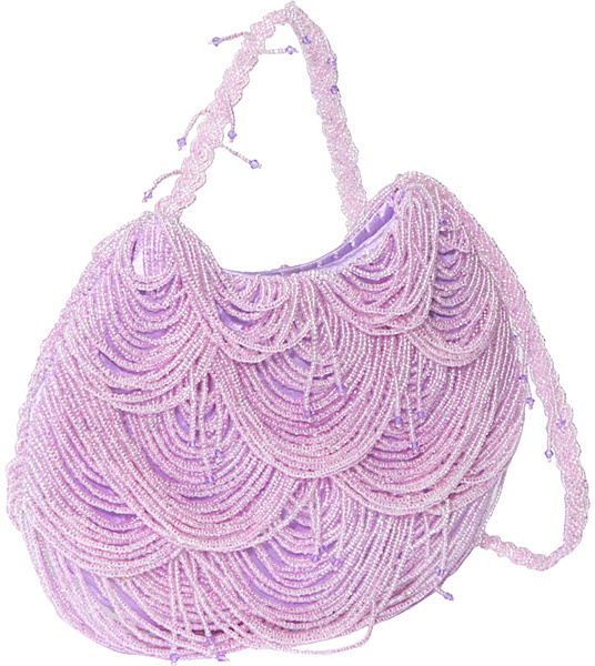 Global Elements Layered Beaded Evening Bag