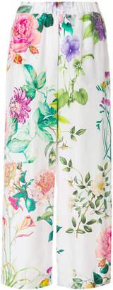 P.A.R.O.S.H. floral print wide leg trousers