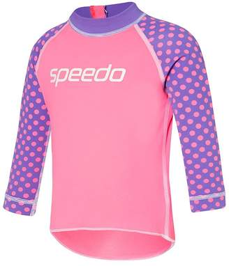 Speedo Toddler Girls Lily Spot Long Sleeve Sun Top