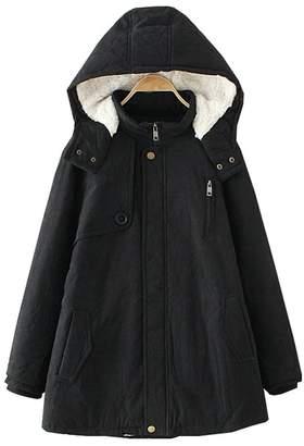 Wicky LS Women's Warm Autumn Winter Hoody Thick Outwear Coat Coat 3XL