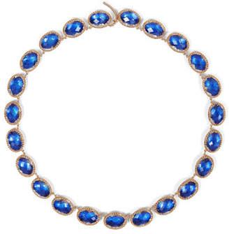 Larkspur & Hawk Lily Riviere Necklace, Cobalt