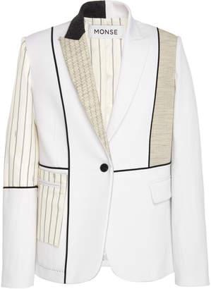 Monse Inside Out Patchwork Wool-Blend Blazer