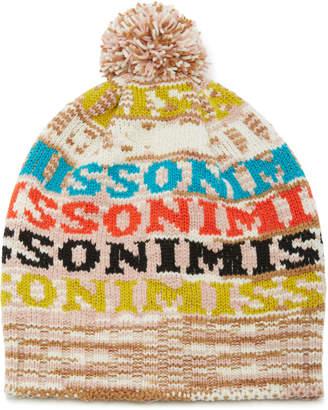 Missoni Pom Pom-Embellished Intarsia Wool-Blend Beanie