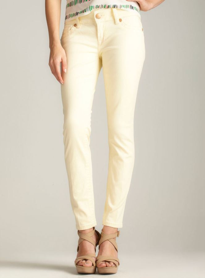 7 For All Mankind Seven7 Skinny Jean, Light Yellow