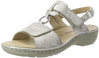 Remonte D7648, Women's Wedge Heels Sandals, Silver (Silber/90), (41 EU)