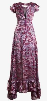For Love & Lemons Flora Red Maxi Dress