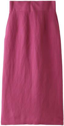 Allureville (アルアバイル) - アルアバイル レーヨン麻ポプリンリボン付スカート