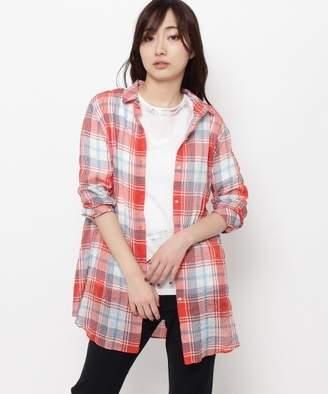 smartpink (スマートピンク) - スマートピンク 【洗える】シャーリングチェックシャツ