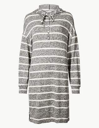 Marks and Spencer Striped Long Sleeve Lounge Dress