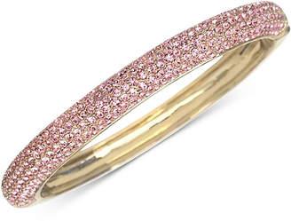 Nina Gold-Tone Swarovski Crystal Pave Bangle Bracelet