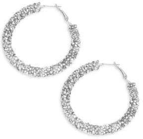 Panacea Crystal Beaded Hoop Earrings