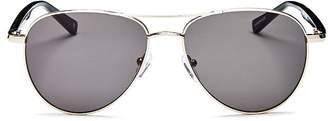Le Specs Luxe Unisex Alchemy Brow Bar Aviator Sunglasses, 56mm