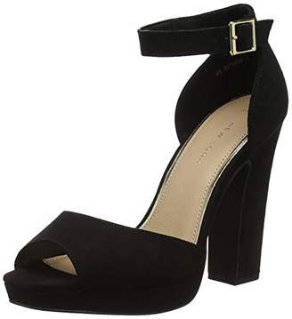 New Look Women's Snozzle Open Toe Heels, Black 1, 7 (40 EU)