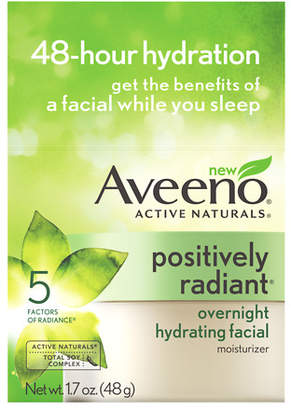 Aveeno Active Naturals Positively Radiant Overnight Hydrating Facial $18.99 thestylecure.com