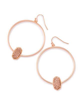 Kendra Scott Elora Hoop Earrings in Rose Gold