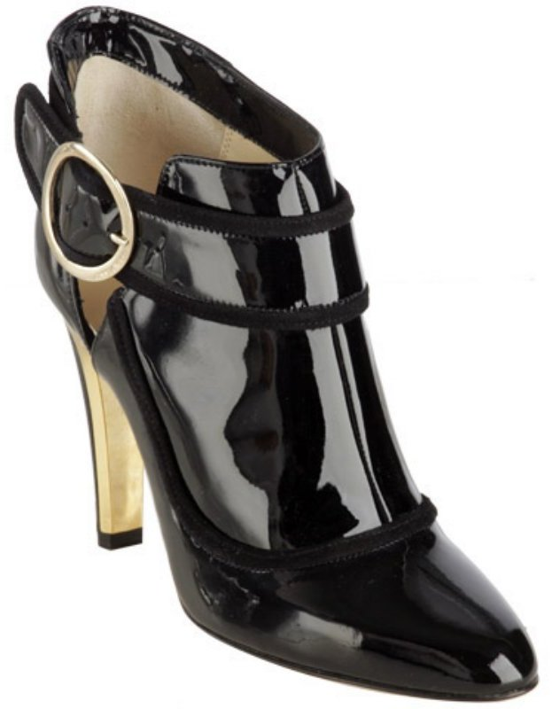 Jimmy Choo black patent 'Chicago' ankle boots
