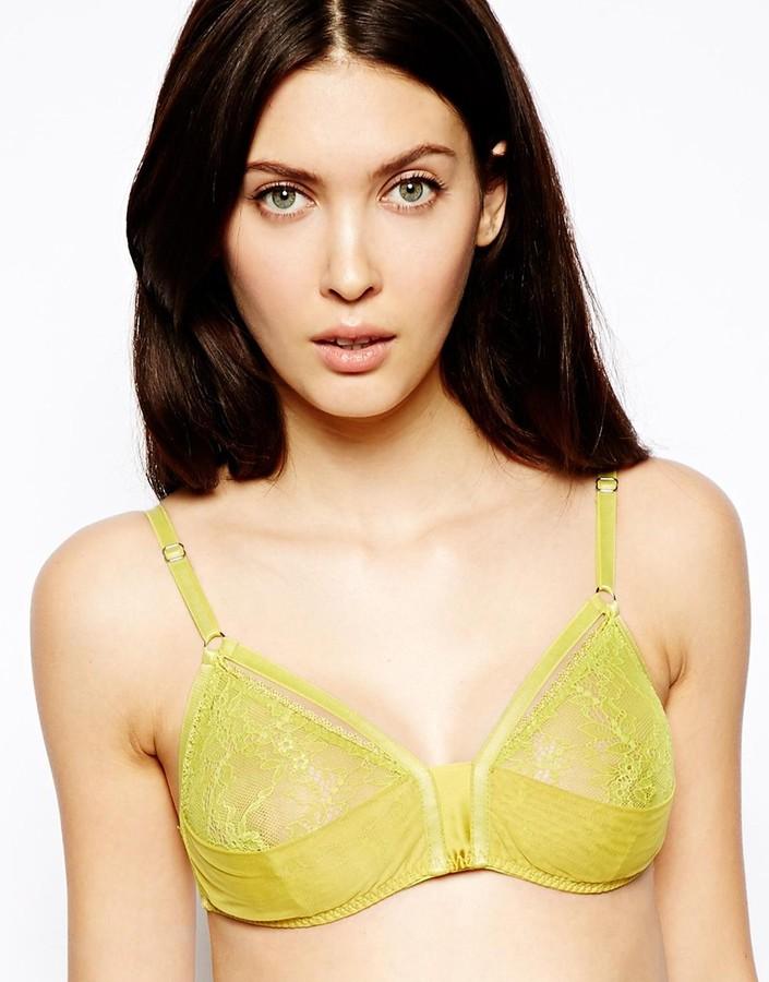 Marios Schwab Kallisti by for ASOS Inc Lace Harness Soft Triangle Bra