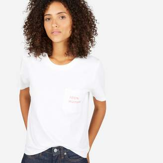 Everlane The 100% Human Cotton Box-Cut Tee in Small Print