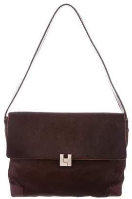 Lambertson Truex Leather-Trimmed Ponyhair Bag