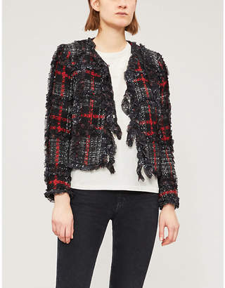 The Kooples Ruffled tweed jacket