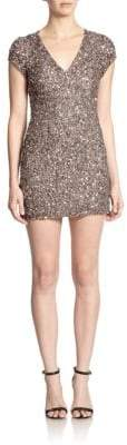 Parker Black Serena Embellished Mini Dress