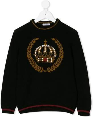 Dolce & Gabbana crown intarsia sweater