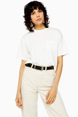 Topshop Cropped Pocket T-Shirt