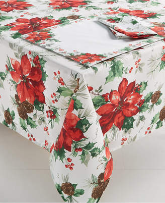 "Bardwil Christmas Watercolor 60"" x 84"" Tablecloth"