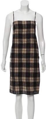 Prada Wool Tartan Dress w/ Tags