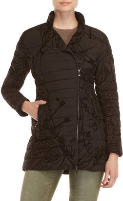 Desigual Flocked Puffer Coat