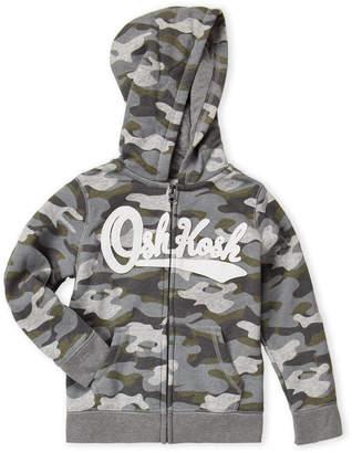 Osh Kosh B'gosh (Boys 4-7) Camouflage Zip-Up Hoodie