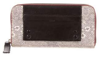 Chloé Embossed Leather Wallet