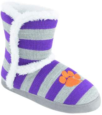 Women's Auburn Tigers Striped ... Boot Slippers with credit card BE6RY