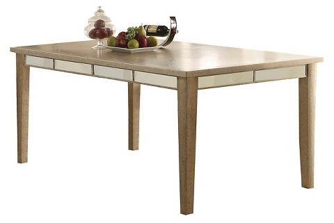 Acme ACME Voeville Dining Table - Antique Gold