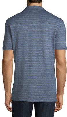Luciano Barbera Men's Striped Jersey Polo Shirt