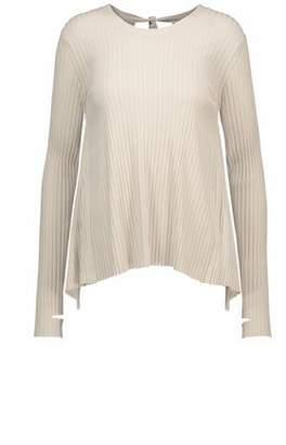Helmut Lang Cutout Ribbed-Knit Sweater