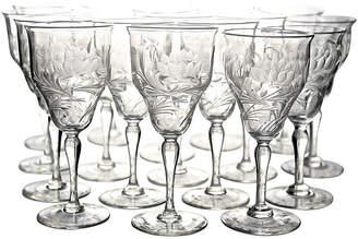 One Kings Lane Vintage Art Nouveau Wine Glasses - Set of 18 - Portfolio No.6
