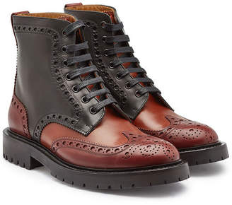 Burberry Barkeston Leather Ankle Boots with Brogue Detailing