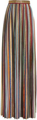 Missoni Striped Pleated Maxi Skirt