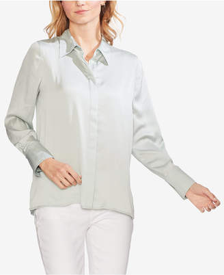 Vince Camuto Hammered Satin Button-Up Shirt