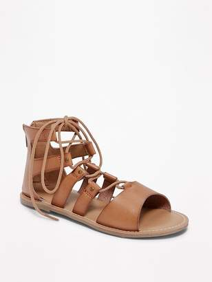 Old Navy Lace-Up Gladiator Sandals for Girls