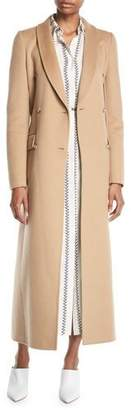 Gabriela Hearst Joaquin Double-Breasted Belted Pleated Back Cashmere Coat