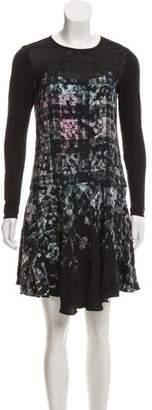 Tibi Long Sleeve Mini Dress