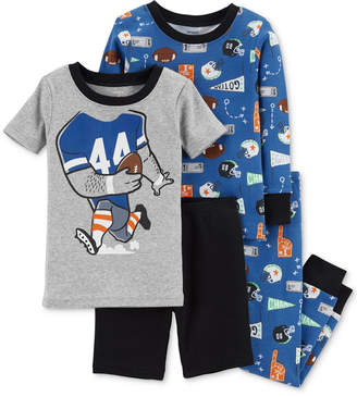 Carter's Baby Boys 4-Pc. Sports-Print Cotton Pajama Set