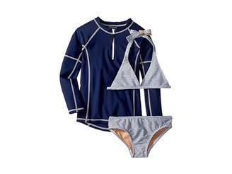 Toobydoo Sweet Nautical Stripe Bikini Rashguard Set (Infant/Toddler/Little Kids/Big Kids)