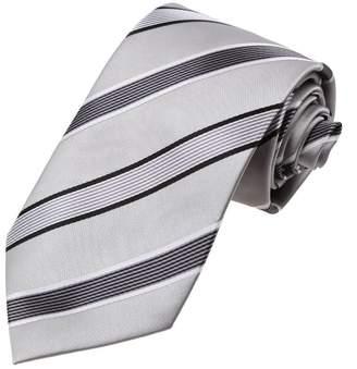 DAA7A18A Purple Black Stripes Microfiber Neckwear Sale For Marriage Neck Tie By Dan Smith