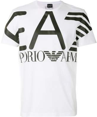 Emporio Armani Ea7 logo patch T-shirt